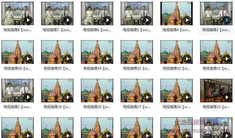全套电视俄语视频教程目录
