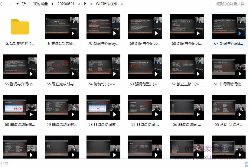 耿建超老师英语语法视频课程目录