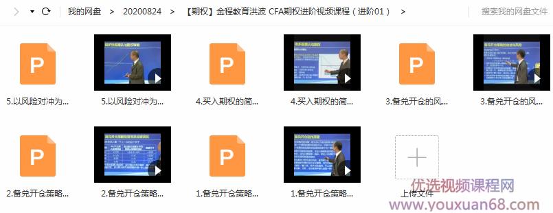 CFA期权进阶视频课程
