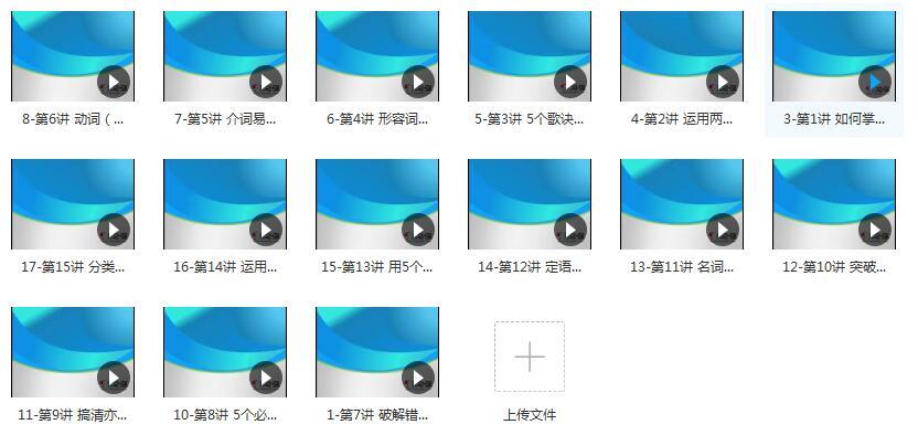 高考英语总复习之备考复习计划方略视频课程目录