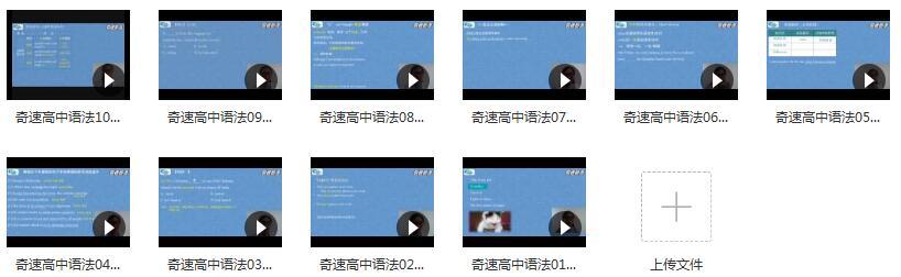 8节课突破高中英语高考英语核心考点语法教学视频目录