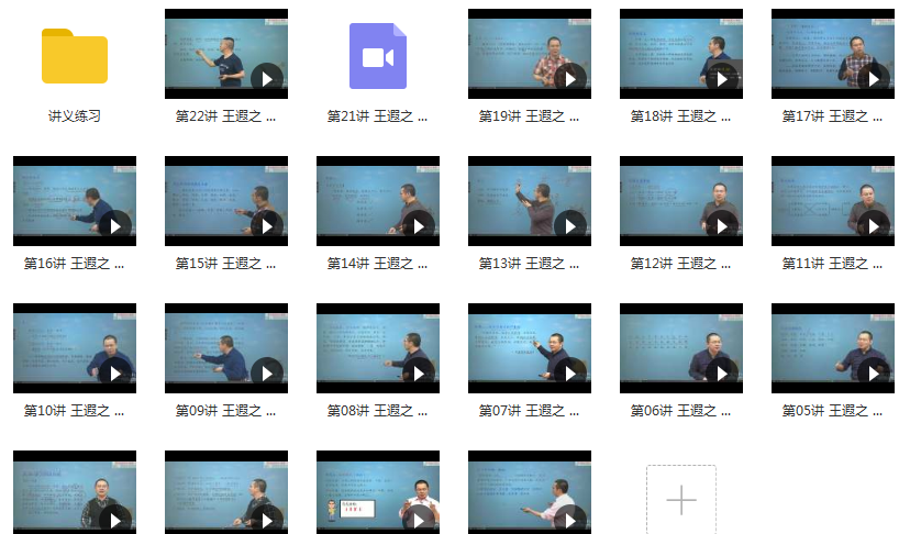 通用版高二语文下学期知识点成绩同步提高网课教学视频(王遐之老师 22讲)目录