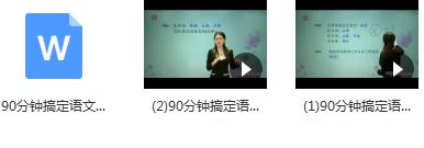 90分钟搞定高考语文高频易错多音字辨析教学视频(吕晶莹老师)目录