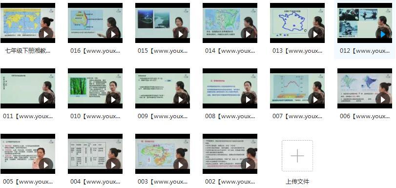 湘教版七年级(初一)下册地理课本同步教学视频目录