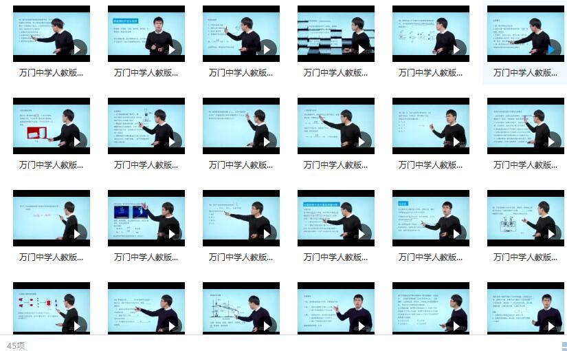 万门中学人教版初三(九年级)化学同步辅导基础教学视频(上册)目录
