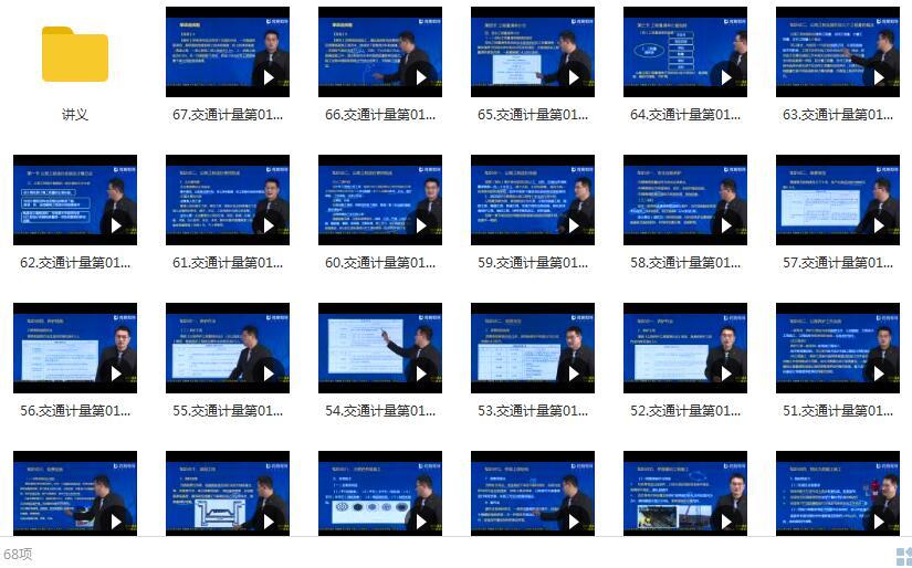 2020年YL一级造价工程师《交通计量》基础精讲季涛精讲班课程目录