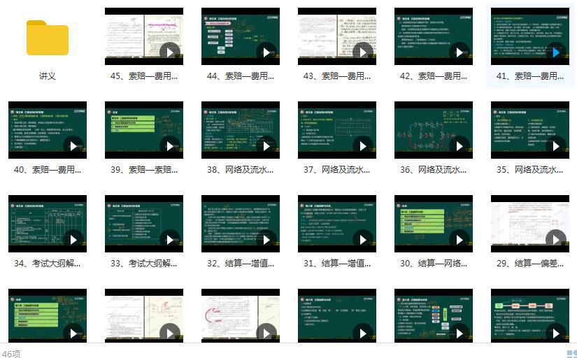 2020一级造价工程师《建设工程案例分析》精讲班刘满基础精讲课程目录