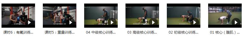 小珂Jivan核心训练腹肌视频教程目录