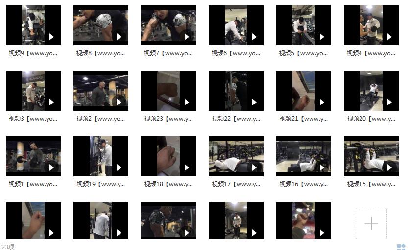 鹿神手臂训练视频目录