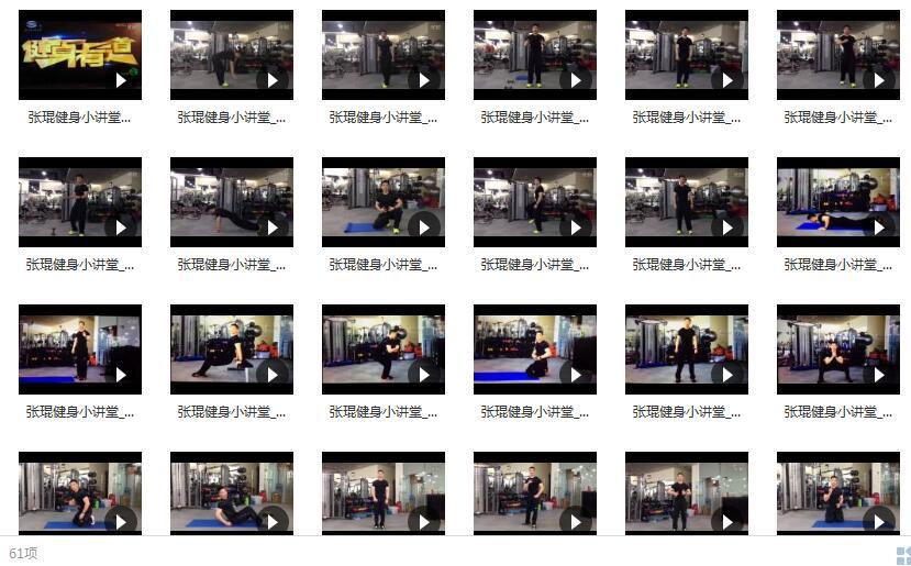 张琨健身小讲堂-国内私教对单个健身动作的讲解目录