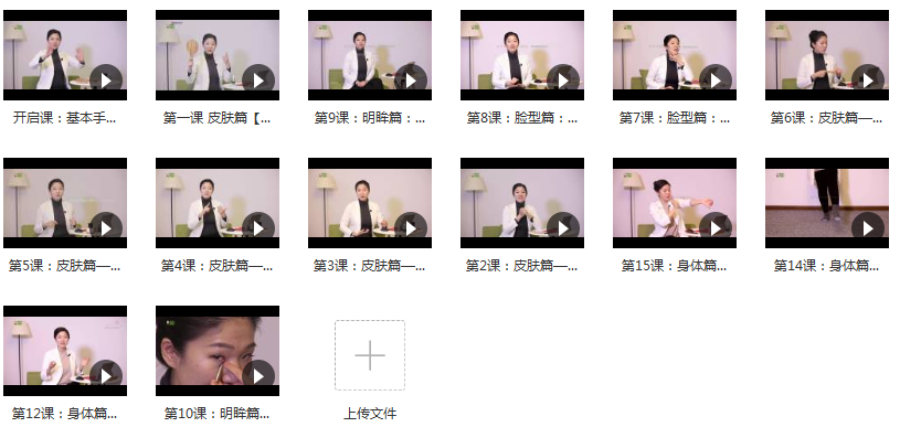向老师中医按摩手法视频教程内容目录