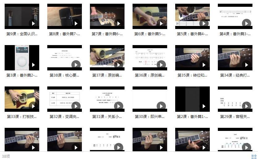 30天入门吉他弹唱 最细致的吉他弹唱课目录