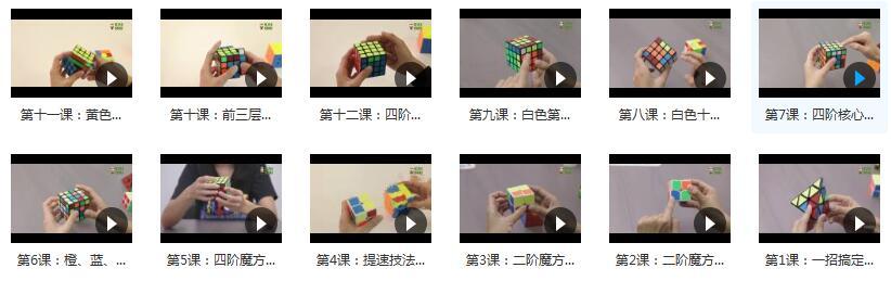 魔方进阶玩法视频教程合集内容目录