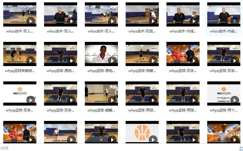 五虎篮球教学3_篮球教学全集_whzs战术-双人切入传球练习目录