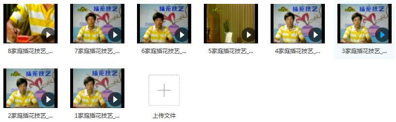 家庭插花教程视频内容目录
