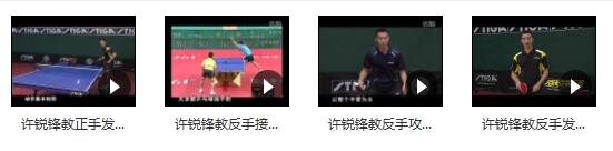 乒乓球国家队教学_许锐锋乒乓球教学_国手许锐锋横板乒乓球教学视频合集