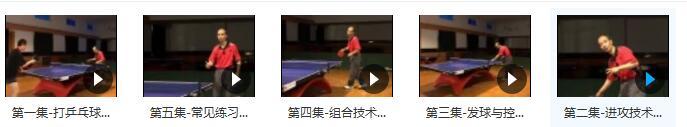 如何成为乒乓球高手《跟唐博士学打乒乓球》授乒乓球教学视频目录